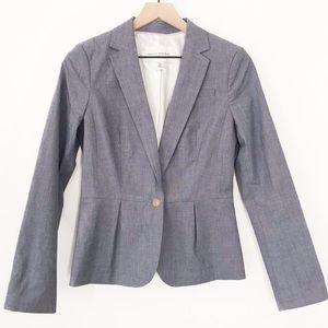 Banana Republic blue lined cotton blend blazer